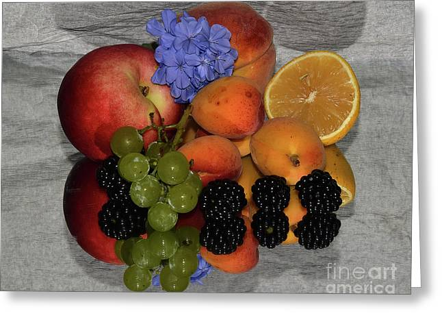 Fruits And Flower Greeting Card