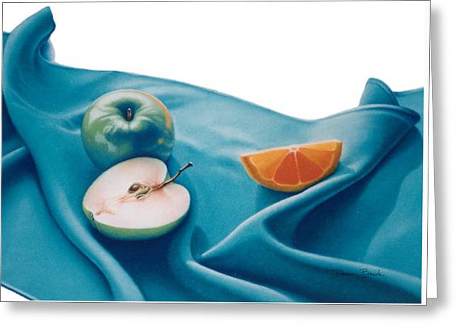 Fruits And Linen Greeting Card