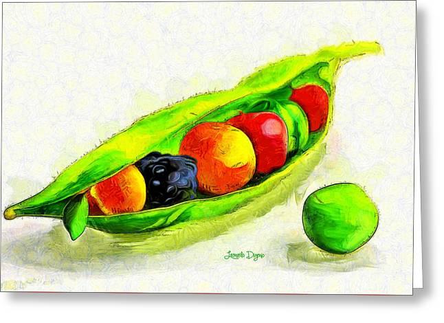 Fruits - Da Greeting Card
