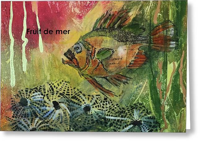 Fruits De Mer Greeting Card by Edith Hardaway