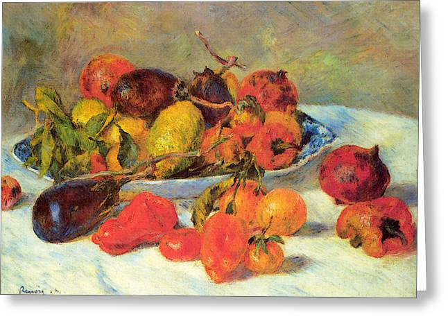 Fruits From The Midi Greeting Card by Pierre Auguste Renoir