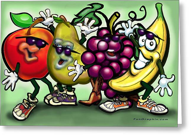 Fruits Greeting Card by Kevin Middleton
