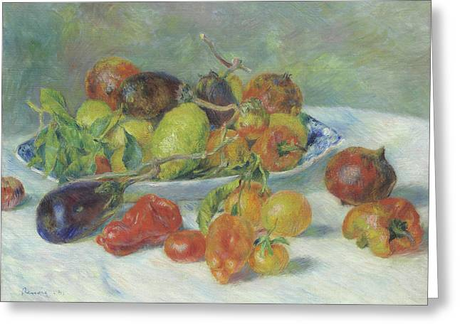 Fruits Of The Midi Greeting Card by Pierre Auguste Renoir