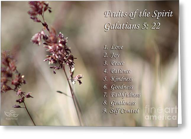 Fruits Of The Spirit Greeting Card by Beauty For God