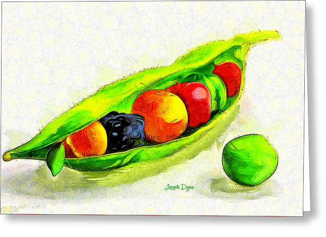 Fruits - Pa Greeting Card by Leonardo Digenio