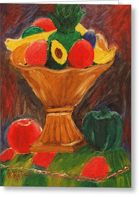 Fruits Still Life Greeting Card by Jose Rojas
