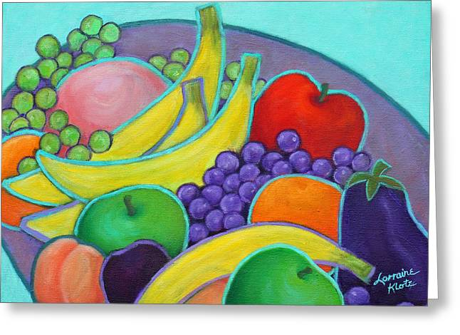 Fruity Banquet Greeting Card by Lorraine Klotz