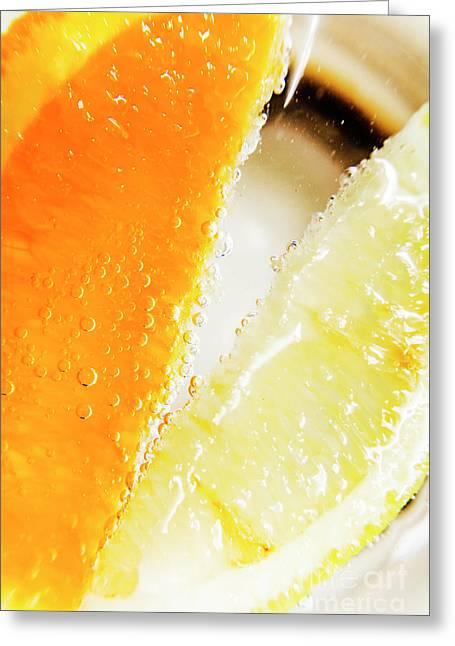 Fruity Drinks Macro Greeting Card