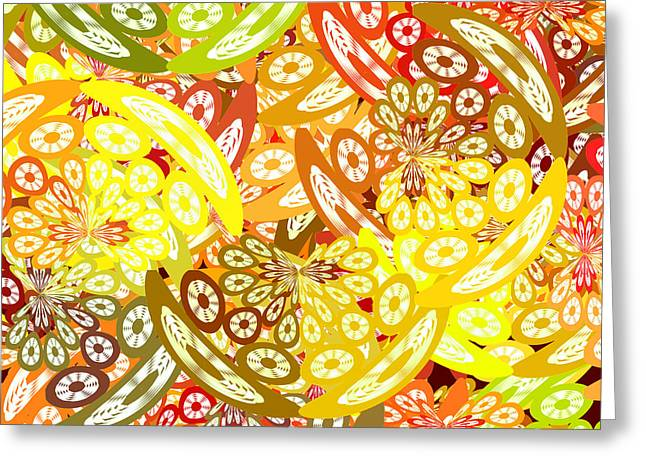 Fruity Geometric Abstract Greeting Card