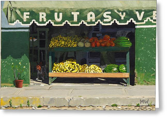 Frutas Y Greeting Card by Michael Ward