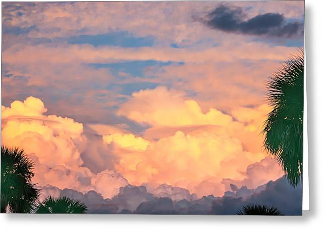Ft De Soto Sunset Clouds Greeting Card