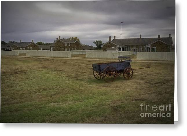 Ft Larned Greeting Card by Fred Lassmann