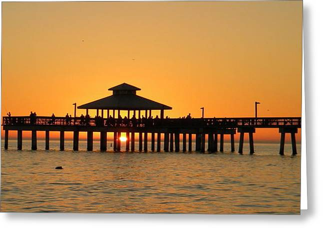 Ft. Myers Pier Greeting Card