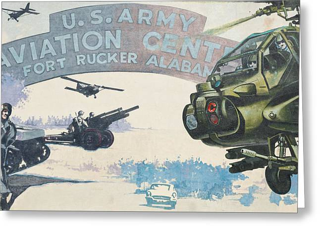 Ft. Rucker, Alabama Mural In Dothan, Alabama Greeting Card