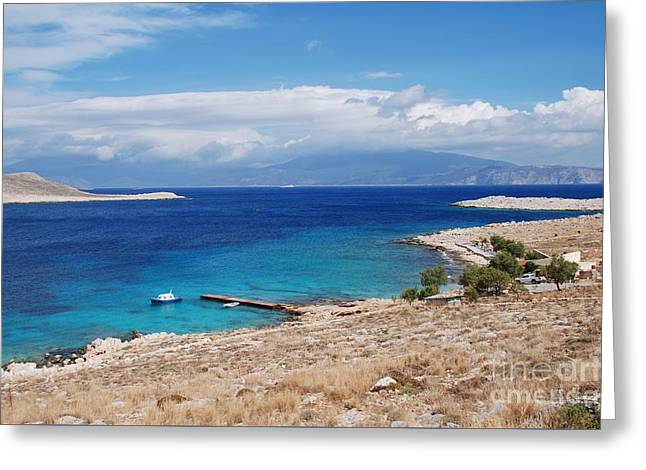 Ftenagia Beach On Halki Greeting Card
