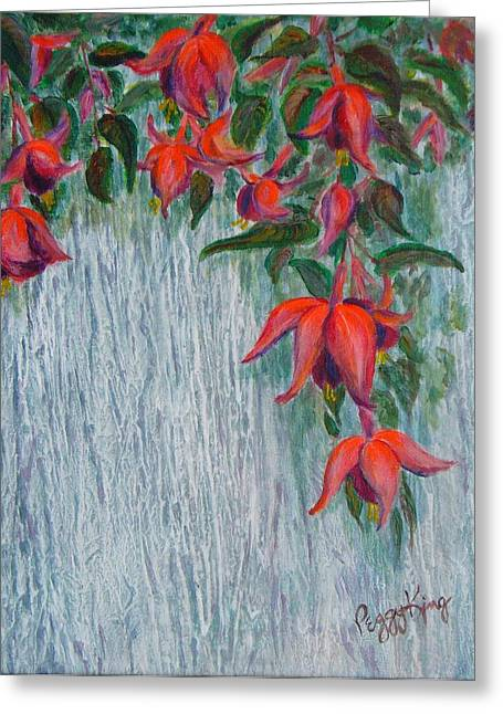 Fuchsia On The Fence Greeting Card
