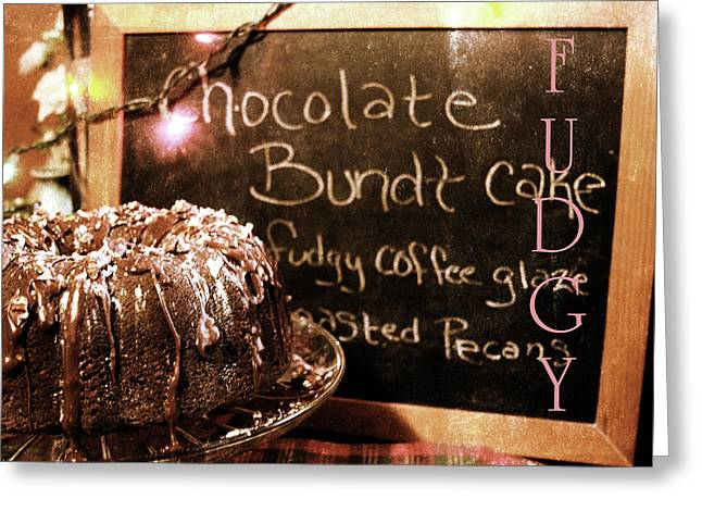 Fudgy Goodness Greeting Card by Toni Hopper