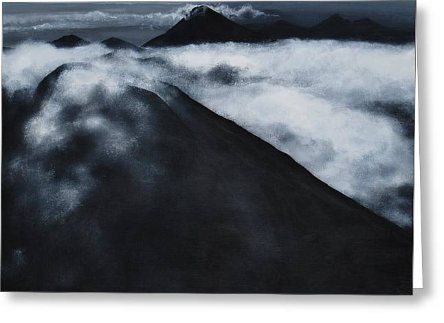 Fuego Volcano Greeting Card by Patricia Ann Dees