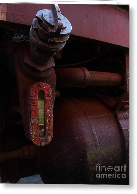 Fuel Gauge Greeting Card by The Stone Age