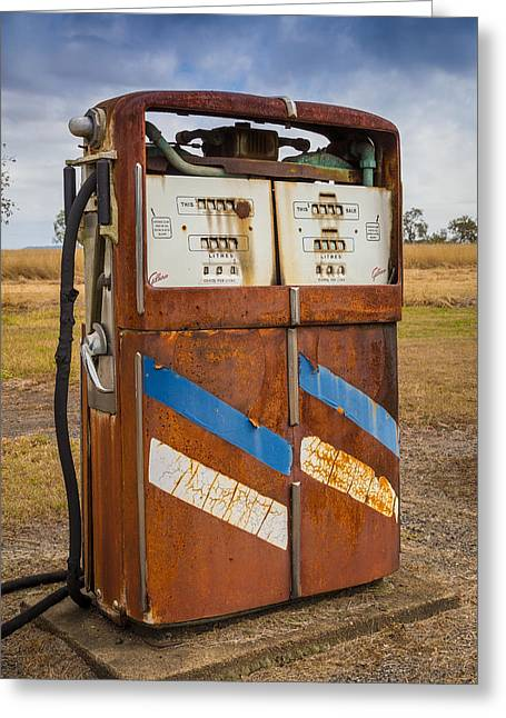 Fuel Pump Greeting Card by Keith Hawley