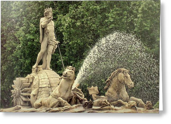 Fuente De Neptuno Greeting Card by JAMART Photography