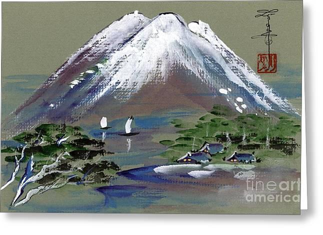 Fuji Greeting Card by Linda Smith