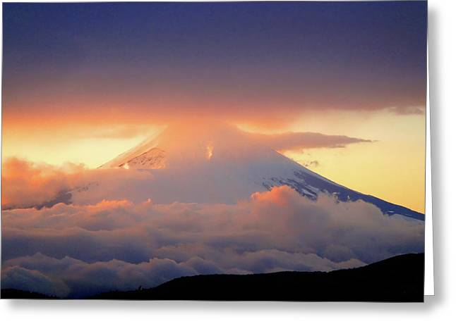 Roberto Alamino Greeting Cards - Fuji Sam Greeting Card by Roberto Alamino