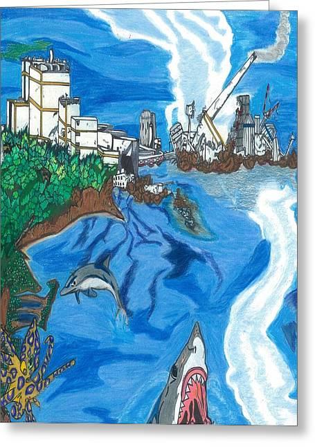 Fukushima Daiichi In Ruin Greeting Card by Justin Chase