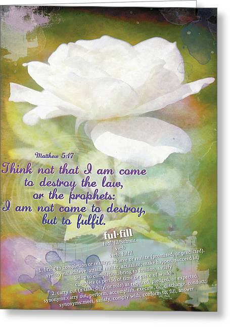 Fulfill Greeting Card by Michelle Greene Wheeler