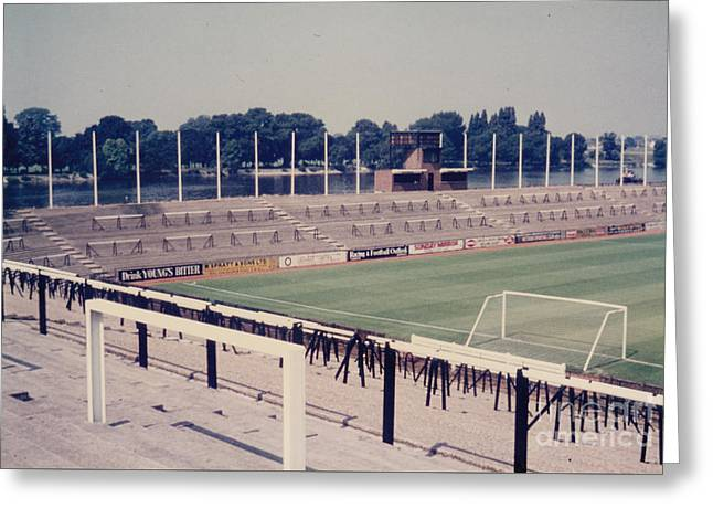 Fulham - Craven Cottage - Riverside Stand 1 - September 1969 Greeting Card by Legendary Football Grounds