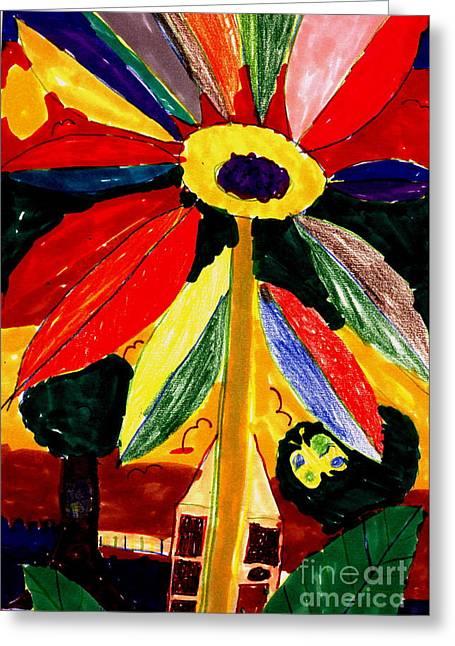 Full Bloom - My Home 2 Greeting Card