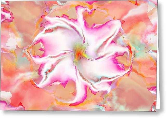 Greeting Card featuring the digital art Full Bloom by Richard Ortolano