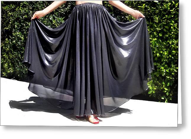 Full-circle Skirt. Ameynra Gothic Fashion. 7.17 245 Greeting Card