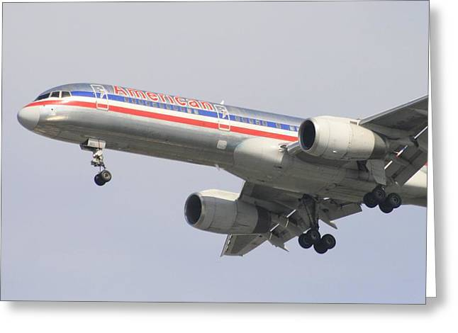 American Airlines Greeting Cards - Full Flaps Gear Down Greeting Card by Christopher Kirby