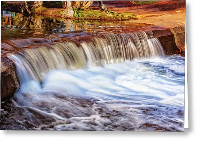 Full Flow, Noble Falls, Perth Greeting Card