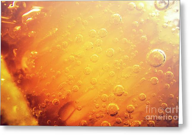 Full Frame Close Up Of Orange Soda Water Greeting Card by Jorgo Photography - Wall Art Gallery