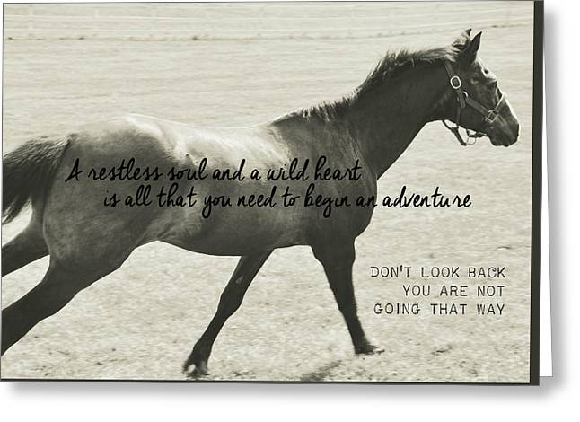 Full Gallop Quote Greeting Card