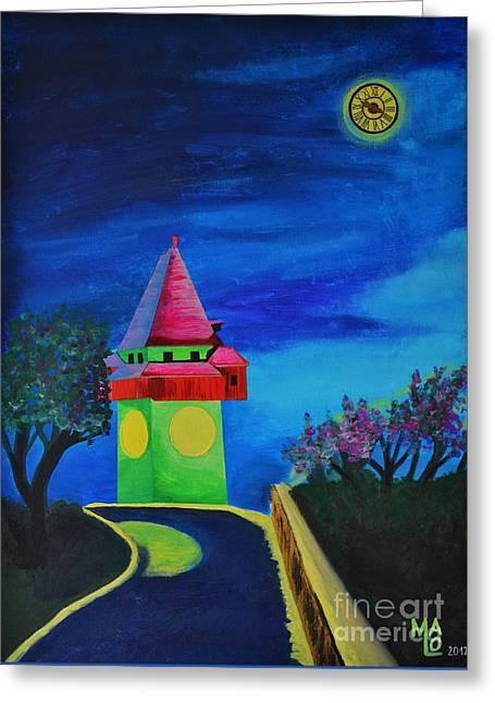 Full Moon Above Graz Greeting Card by Mario Lorenz