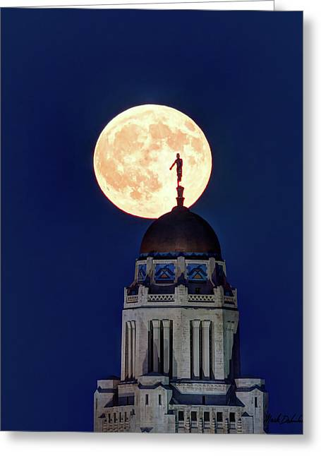 Full Moon Before The Eclipse Greeting Card