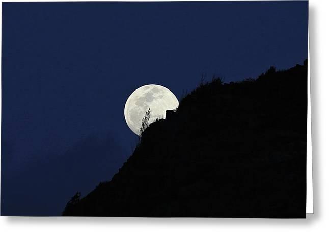 Full Moon Behind Makapu'u Greeting Card