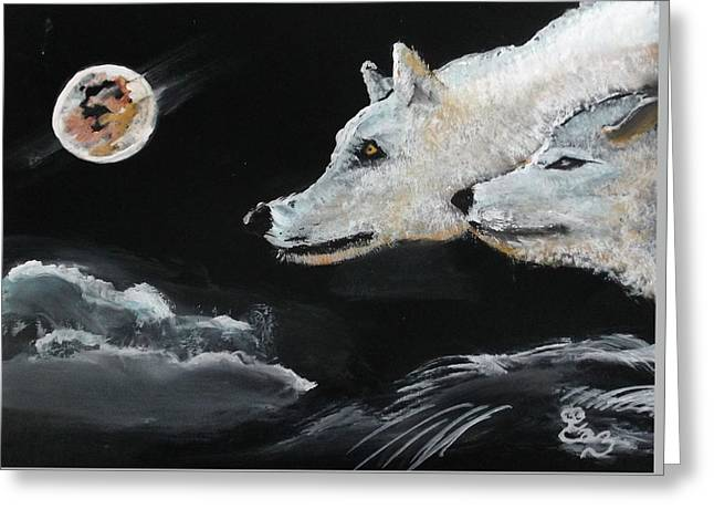 Full Moon Greeting Card by Carole Robins