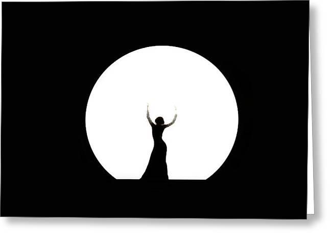 Full Moon Dance Greeting Card