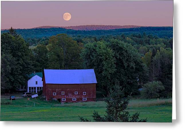 Full Moon From High Street Greeting Card