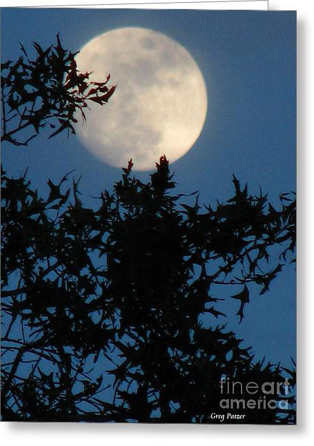 Full Moon Greeting Card by Greg Patzer