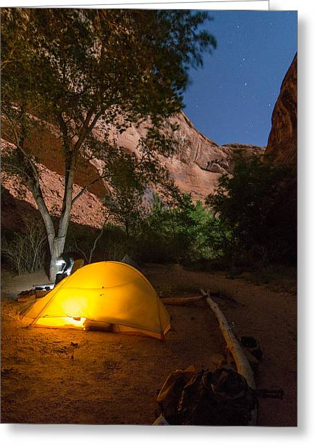 Full Moon In Coyote Gulch Greeting Card