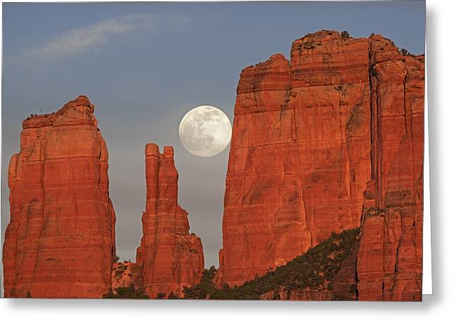 Full Moon In The Cathedral Greeting Card