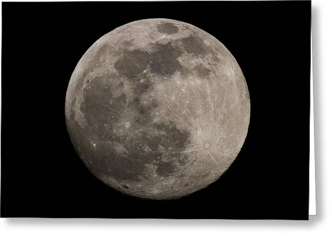 Greeting Card featuring the photograph Full Moon by Nathan Rupert
