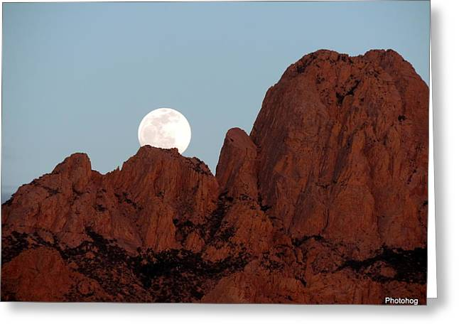 Full Moon Over Mountain  Greeting Card