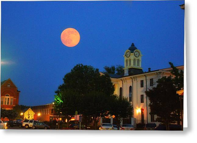 Full Moon Over Oxford  Greeting Card