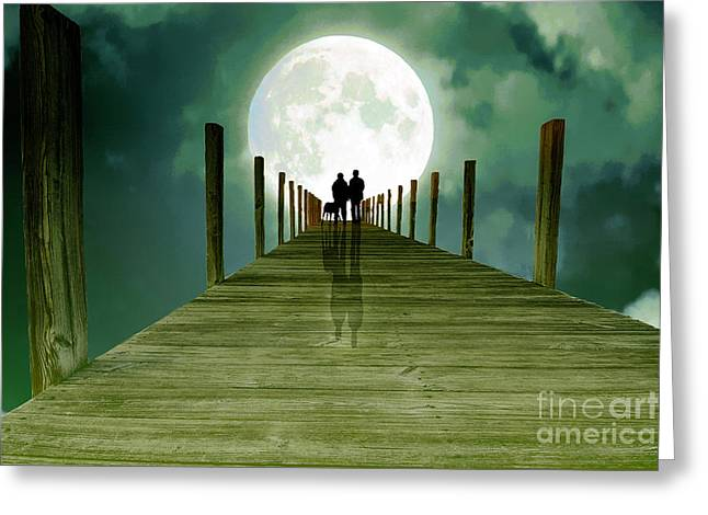 Full Moon Silhouette Greeting Card